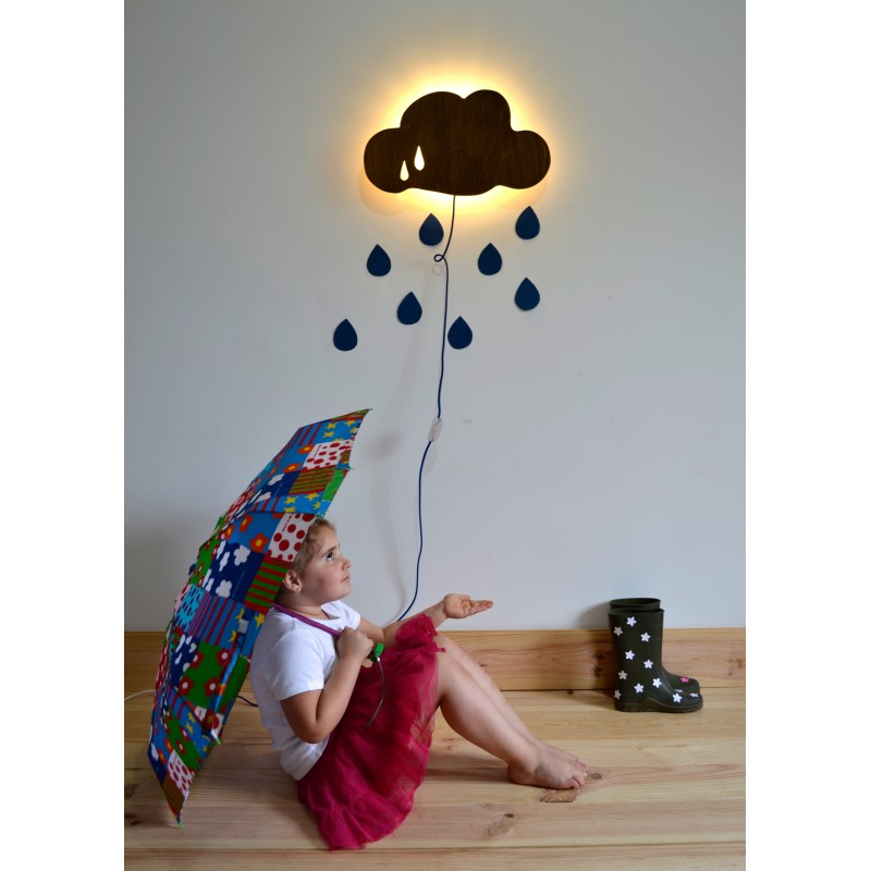 Nube l mpara infantil de pared applique murale nuage - Lamparas pared infantiles ...