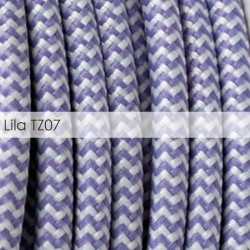 Cable textil - Zig-Zag - LILA RZ07