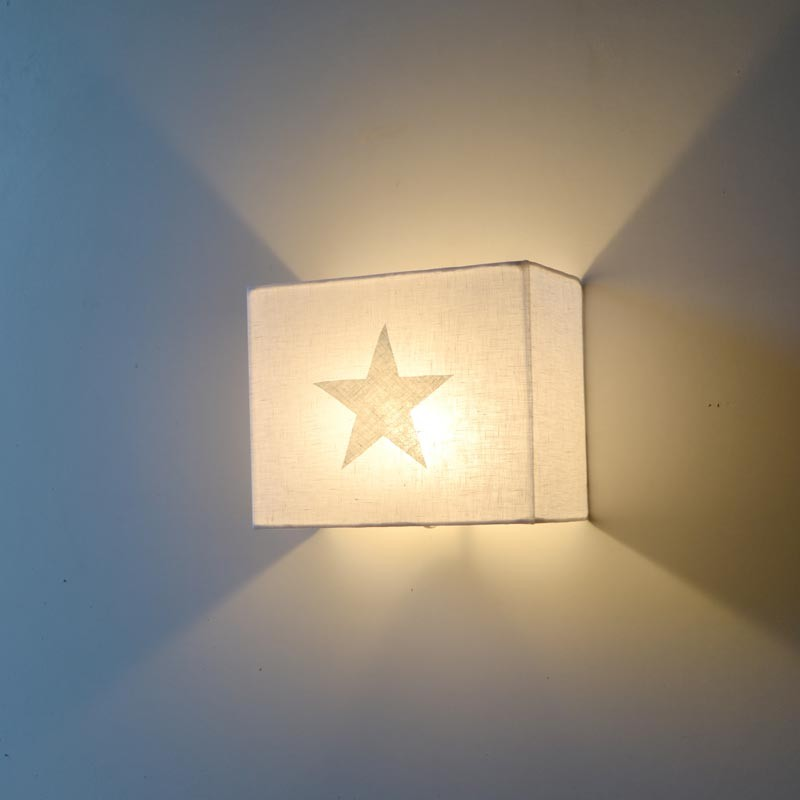 L mpara infantil de pared estrella aplique applique - Lamparas de aplique para pared ...